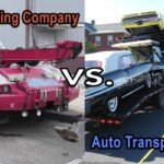 difference between towing company and auto transport company