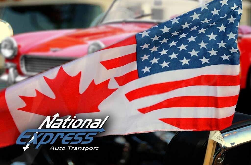 """American Canadian Half USA Half Canada Flag Sticker 2.5/"""""""