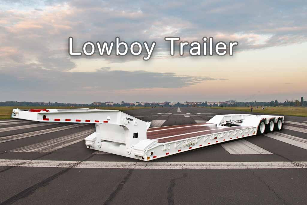 lowboy trailer - truck transport
