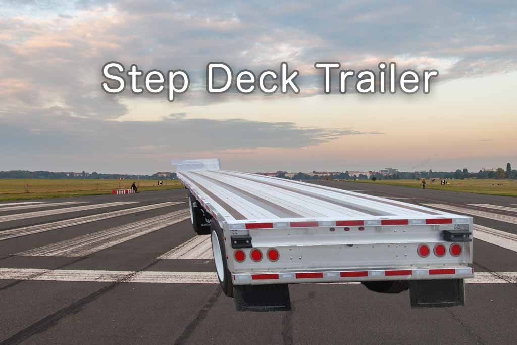 step deck trailer - truck transport