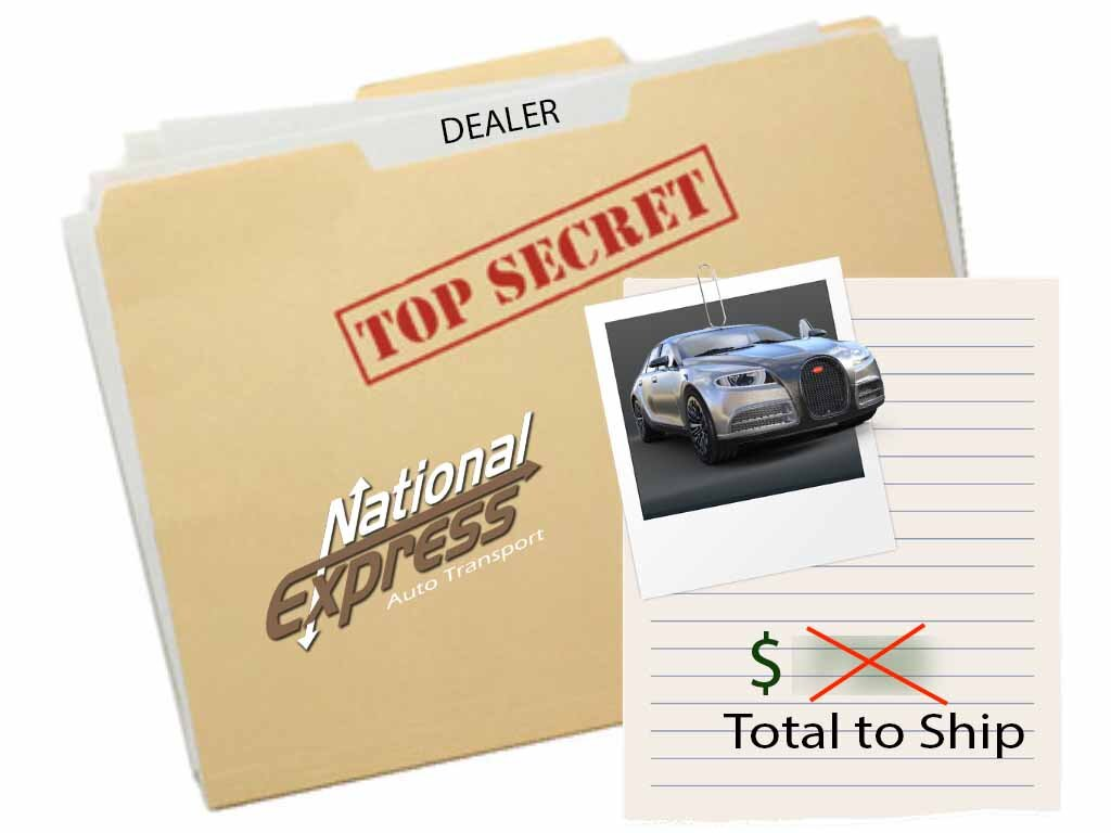 dealership auto transport - costs not disclosed to except who ordered the transport